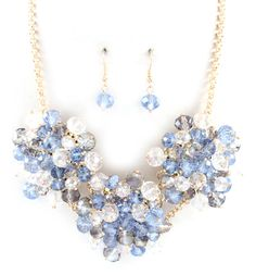 Bobbi Necklace in Prussian Blue Crystal