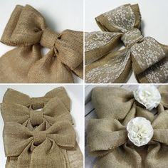 Burlap Wedding Bows  sets of 6, 10, 20 http://etsy.me/1EqZ7BH