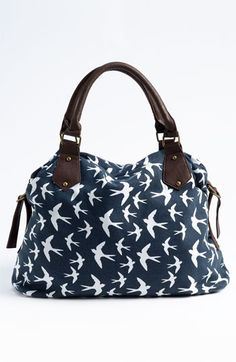 Amici Accessories Bird Print Canvas Shoulder Bag   Nordstrom Nordstrom Bags,  My Style Bags, ea35b7e4f4