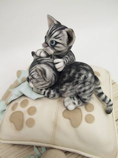 Edible Art, Cats on a Pillow Cake.