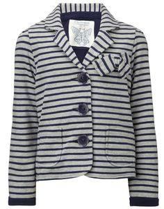 Emilia Stripe Jersey Blazer