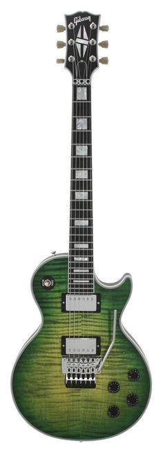 Gibson Custom Shop Les Paul Custom Axcess Iguana Burst W/ Floyd Rose   Rainbow Guitars