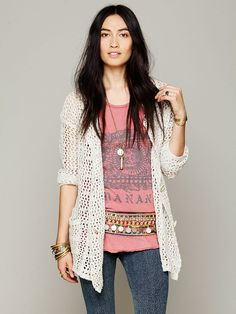 Free People Mesh Sweater Jacket http://www.freepeople.com/whats-new/mesh-sweater-jacket/