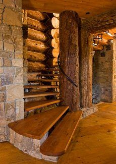 Log Cabin Interior Design... An Extraordinary Rustic Retreat! Wouldn't this be absolutely amazing for our future cabin? http://www.clearwatercabinliving.com/index.html