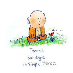 buddha doodles - there's big magic in simple things Buddha Thoughts, Happy Thoughts, Positive Thoughts, Positive Things, Tiny Buddha, Little Buddha, Namaste, Buddah Doodles, Decir No