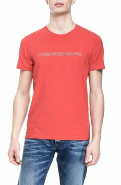 Armani Exchange Mens Reflective Logo Crew Neck Tee. BUY it on Amazon: http://amazonpartner.us/?p=377