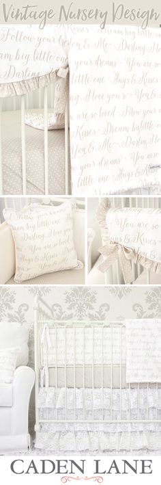 create your perfect vintage nursery with this vintage inspired crib bedding a few of our