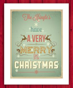 Love this Merry Little Christmas Personalized Wall Art by Little Elf Print Co on #zulily! #zulilyfinds