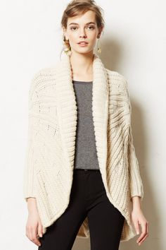 Comete Cardigan - anthropologie.com.  Big cozy comfy sweaters for everyday wear in winter. Or as we say here, 9 months out of the year.