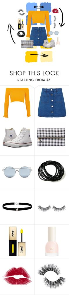 """Sun and Sidewalks"" by audreyisadinosaur ❤ liked on Polyvore featuring Blue Squares, River Island, Miss Selfridge, Converse, For Art's Sake, Amanda Rose Collection and John Lewis"
