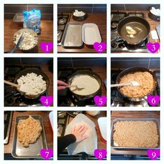 How-to: boetseren met een mengsel van Rice Krispies, marshmallows en boter (how-to make Rice Krispie treats).