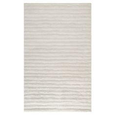 Hand-tufted shag rug with striped motif.   Product: RugConstruction Material: Polyester and polypropelene