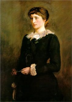 A Jersey Lily, Portrait of Lillie Langtry - John Everett Millais