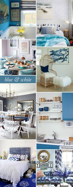 Interior Style File: Blue & White   www.theglitterguide.com