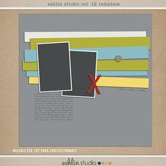 october free digital scrapbook template by sahlin studio