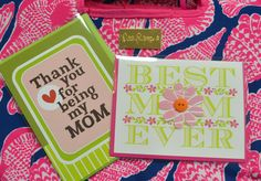 Does your mom live far away? Get your card in the mail soon! Plus, if you're still struggling for a gift idea, this Lilly Pulitzer cooler is perfect for summer! #MothersDay #ShopLocal