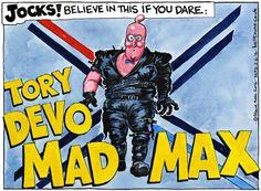 Steve Bell on David Cameron and Scotland - cartoon
