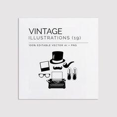 Stylish Vintage Illustration & Clip Art Vectors http://ift.tt/1igwOlZ #design