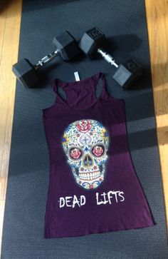 I want this sooooooooo bad!!!! RG Sugar Skull Racerback Tank – Ripped Goddess