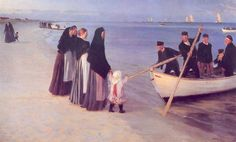 Peder Severin Kroyer   (Peder Severin Krøyer) (1851-1909)  Pescadores en Skagen