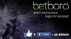 Betboro where Entertainment begins for everyone.. Now with more attractive offer. Like and share and earn bonus. www.betboro.com