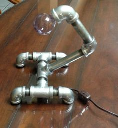 Industrial Galvanized Pipe Desk Lamp