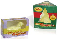 Butterball Farms Butter Sculptures Display Pack is also a mould for the butter sculpture.  (AmeriStar award winners for 2014, Institute of Packaging Professionals Website).  See also:  Butterball's butter sculpture breaks the mold in design  (Packaging Design 24 September 2014) http://www.packagingdigest.com/packaging-design/butterballs-butter-sculpture-breaks-mold-design140924?cid=nl.pkg04.20140924