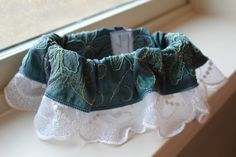 Iridescent Garter by LAMBridalAccents on Etsy