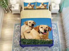 Cheap bedding set, Buy Quality printed bedding set directly from China king size Suppliers: Golden Labrador Retriever Dogs print bedding set for adult home decor twin full queen king size comforter duvet cover bedclothes Labrador Golden Retriever, Golden Labrador, Duvet Cover Sets, Pillow Covers, King Size Comforters, Bedclothes, Textiles, Duvet Bedding Sets, Pet Store