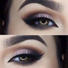 Shadow Couture Palette (Morocco Fudge Noir Pink Champagne) Waterproof Creme Color in Jet Liquid Eyeliner Lashes in Kendall by miaumauve Makeup Goals, Makeup Inspo, Makeup Inspiration, Makeup Tips, Beauty Makeup, Hair Makeup, Eyeliner, Eyeshadow Makeup, Mascara
