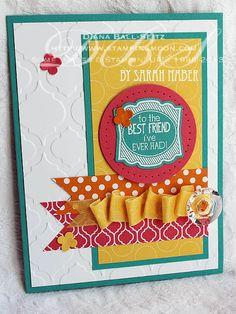Label Love Handstamped Card by Sarah N.