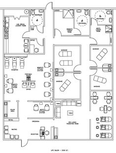 Esthetics Facial Spalayouts Floor Plans | Salon  Spa Floor Plan Design Layout - 3105 Square Feet: