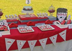 Red Car Birthday Party  PRINTABLE ONLY  por greenapplepaperie, $25.00