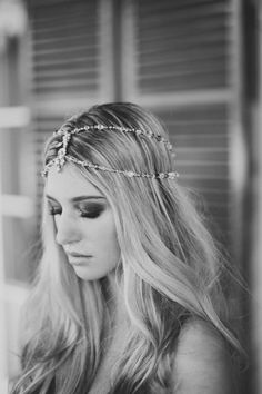 #hair #jewelry want a head piece. look bad with center part. dilemma.