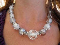 Beaded necklace idea.