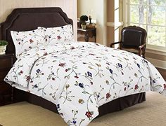 Tribeca Living Flannel Floral Garden Printed 170 GSM Duvet Cover Set KingCalifornia King *** Check this awesome product by going to the link at the image.