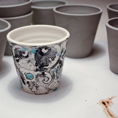 Ceramic cup / Right Now by DearHuman on Etsy, $50.00