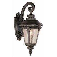 Trans Globe Lighting 5043 Single Light Small Outdoor Wall Lantern with Seeded Glass (swedish iron)