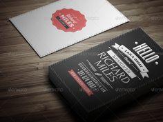 Retro Business Card - GraphicRiver Previewer