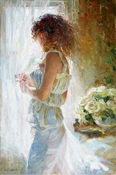 Waiting for Love by Michael and Inessa Garmash, a limited edition available from J Watson Fine Art 661 your source for Garmash art. Double Exposition, Fine Arts College, Waiting For Love, Art Competitions, Love Painting, Beautiful Paintings, Oeuvre D'art, Female Art, Ukraine