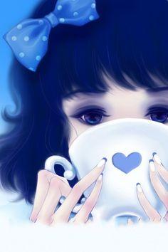 Manga girl- reminds me of Alice in Wonderland