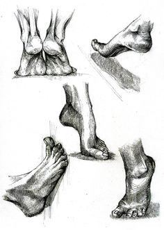 Foot Study by dedeyutza on DeviantArt Drawing Practice, Drawing Skills, Drawing Techniques, Life Drawing, Feet Drawing, Shading Drawing, Human Anatomy Drawing, Anatomy Art, Anatomy Sketches
