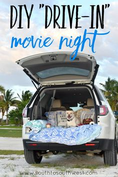 "Does your family need a fun and easy idea to elevate your summer evenings? Try having your own ""Drive-In"" Movie Night (instructions in post) and find your sweet spot with ice cream treats!"