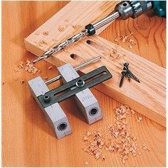 Woodworking Wood Pocket Hole Drill Guide Jig Tool Kit Pockethole Face Frame