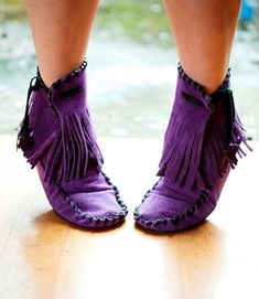 Purple moccasins... how much better does it get