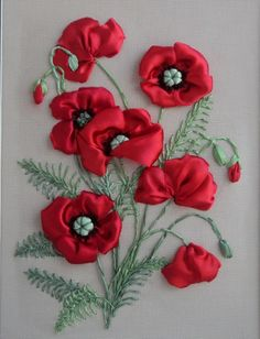Wonderful Ribbon Embroidery Flowers by Hand Ideas. Enchanting Ribbon Embroidery Flowers by Hand Ideas. Embroidery Designs, Ribbon Embroidery Tutorial, Silk Ribbon Embroidery, Embroidery Supplies, Embroidery Software, Learn Embroidery, Embroidery Art, Embroidery Stitches, Mexican Embroidery