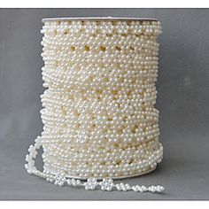Length+25Yards/roll+Rose+Flower+Pearl+Acrylic+Eco-friendly+Material+Wedding+Decorations+Ribbon-1Piece/Set+Spring+Summer+Fall+Winter+–+USD+$+33.98