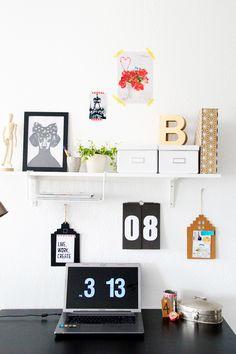Creative Workspace: 5 einfache Ideen http://spoonandkey.blogspot.de/2015/06/5-tipps-creative-workspace.html