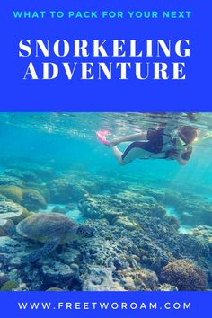 Heading on your next snorkelling adventure? Check out our packing list to make sure you've got everything you need before getting into the water. #snorkel #snorkelling #travel #watersports #packinglist