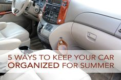 Five Ways to Keep Your Car Organized During the Summer Months | http://carnizer.com/ | #Carnizer #carorganizing #cartips #carkit #carorganizingtips #carcompartment #carbackseatorganizer #autoseatorganizer #backseatorganizer #organizingtips #amazon